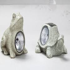 Amazoncom  Garden Statues Solar Lights Snail Garden Decor Solar Frog Lights