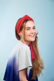 Designer Head Scarf Designer Skinny Silk Scarf In Red And Pink Collingwood Norris
