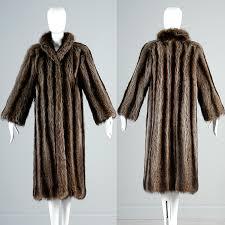 details about s vintage rac fur full length coat saks fifth avenue real fur winter coat