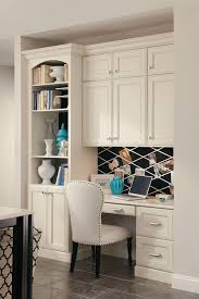 home office in a cupboard. Unique Office Kraftmaidbuiltindeskwithbookcaseandcabinets  Intended Home Office In A Cupboard F
