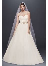 strapless sweetheart tulle wedding dress david s bridal