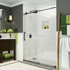 completely frameless sliding shower door in