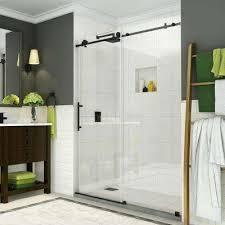 completely frameless sliding shower door in