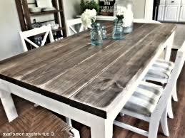 paint rustic wood dining table modern kitchen throughout design 12