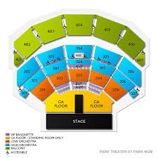 Monte Carlo Park Theater Seating Chart Park Theater At Monte Carlo Resort And Casino Tickets