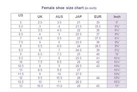 Female Shoes Size Conversion Page Glamwearballroom Com