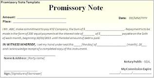 Promissory Note Word Template Vehicle Promissory Note Template Free Word Format Sample For