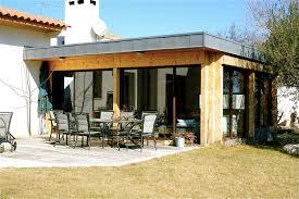 extension ossature bois d une maison à