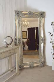 silver floor mirror. Homeware: Oval Full Length Standing Mirror | Large Floor Mirrors In Silver I