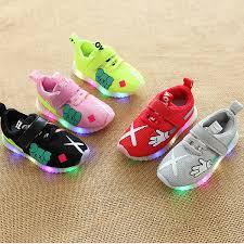 <b>Mesh</b> Breathable Cartoon Baby Casual Sneakers LED Lighting ...