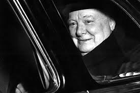 winston churchill s aliens essay reveals scientific thinking  sir winston churchill seen through the window of a limousine following his massachusetts institute of technology mit mid century convocation address