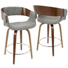 modern wood counter stools. Brilliant Stools Lumisource Eliza Walnut And Grey MidCentury Modern Counter Stool For Wood Stools B