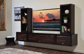 black wide screen tv on white wall