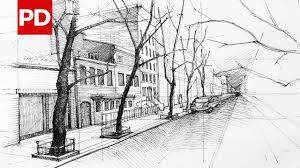 rough architectural sketches. Drawing New York Street View | Daily Architecture Sketches #6 Rough Architectural