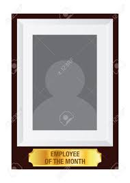 Employee Of The Month Photo Frame Vector Stock Of Employee Of The Month Award Photo Frame Template