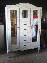 white wood wardrobe armoire shabby chic bedroom. Vintage Armoire Distressed White Finish - Shabby Chic Furniture Bedroom Wardrobe Closet Cabinet Mirrors On Etsy $575.00 Wood H