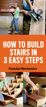patio steps pea size x: how to build stairs in  easy steps popularmechanicscom