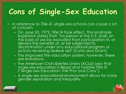 single sex education <br > 10 cons of single sex education
