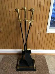 vintage fireplace tools vintage brass fireplace tools fireplace set duck head handle wood stove tools cabin