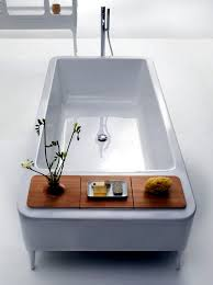 freestanding bath table with integrated extra practice freestanding bathtub in modern bathroom