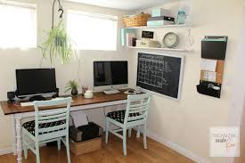 home office for 2. Adorable Organized Home Office In A Small Rental For 2 D