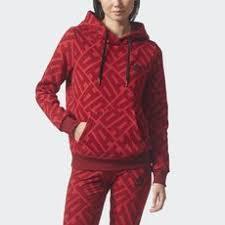 adidas hoodie womens. adidas - allover print hoodie power red / collegiate burgundy bq8015 womens d