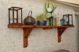 patio shelves make any patio like an outdoor room