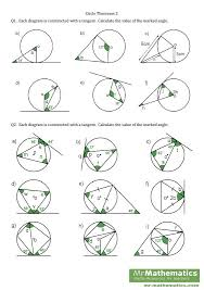 angles in a circle worksheet. tangents circle theorems worksheet angles in a c
