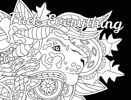 Fuck Everything Swear Word Coloring Page