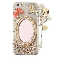 Mobile Cover Designs Handmade Free Shipping 100 Handmade Crystal Diamond Pearl Mirror