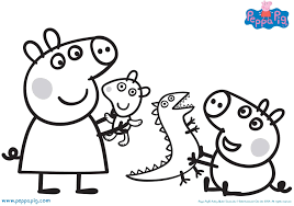 Peppa Pig Coloring Pages Birthday Colouring Uk Through The Thousands