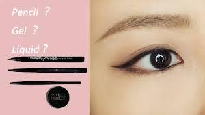 eyeliner tutorial for beginners gentle winged eyeliner with eyeliner pencil gel and liquid eyeliner