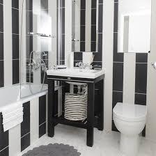 black and white bathroom tiles. Mono Stripe Bathroom Tiled Black And White Tiles U