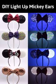 diy light up minnie mouse ears no sew