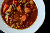 beef vegetable soup with orzo