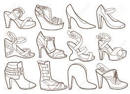 Coloriage Chaussures Pinterest Coloriage Chaussure Et Dessin