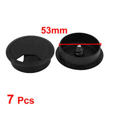 uxcell color office pc computer desk table plastic grommet cable tidy cord hole cover black 50mm
