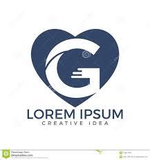 Graphic Design G Letter G Logo Design Template Heart Shaped Letter G Logo