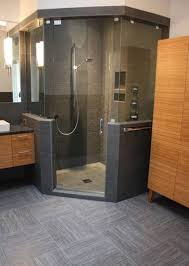 shower stall lighting. contemporary bathroom designed with neo angle shower featured slate tiles stall lighting h