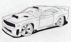 Drawing Cars Finish The Colouring Of