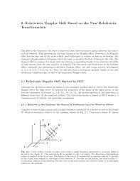Doppler Effect Equation Light Pdf 2 Relativistic Doppler Shift Based On The New