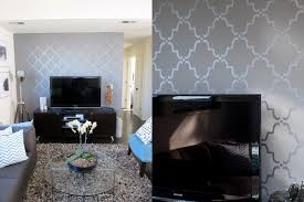 accent wall designs living room. courtney created an accent wall in the second floor living room by painting a morrocan- designs n