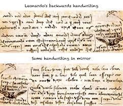 Leonardo Da Vinci Resume Mesmerizing Leonardos Handwriting Third Grade Pinterest Art Lessons