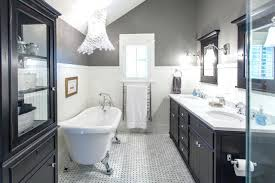 Bathroom Floor Cabinet Black Black White Grey Granite Bathroom Ideas