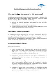 Contractor Confidentiality Agreements 24 Confidentiality Agreement Contract Forms PDF 5
