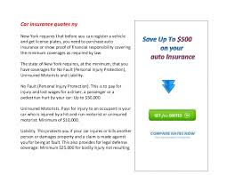 Car Insurance Quotes Ny Classy Car Insurance Quotes Ny
