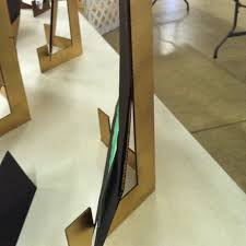 Cardboard Easel Display Stand Adorable Cardboard Display Easel Def Be Making Some Of These For Next Art