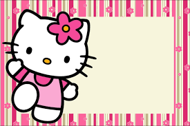 Printable Hello Kitty Invitations Personalized Hello Kitty With Flowers Free Printable Invitations Oh