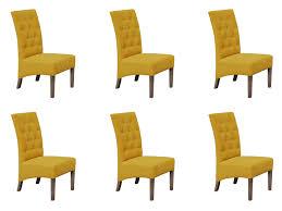 Lounge Polster Garnitur Design 6x Stuhl Stuhl Sitz Polster