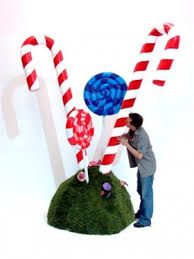 Large Candy Cane Decorations Candy Cane Props Home Safe 83